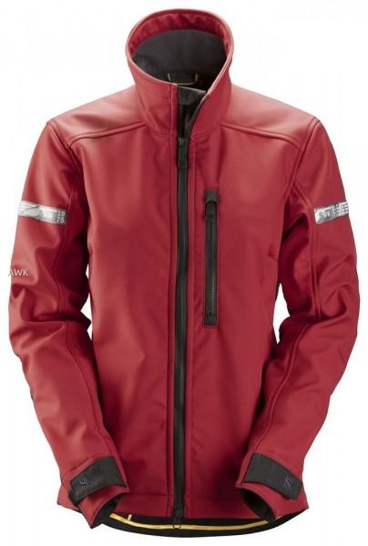 AllroundWork Damen Softshell Jacke, rot schwarz