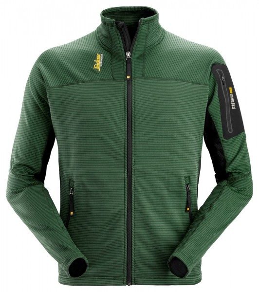 Body Mapping Mikro Fleece Jacke, forest green/blac