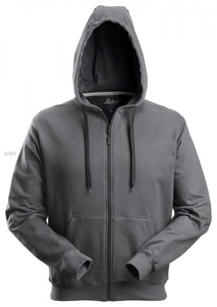 Hoodie mit Reißverschluss, Steel grey