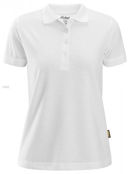 Damen Polo Shirt, White