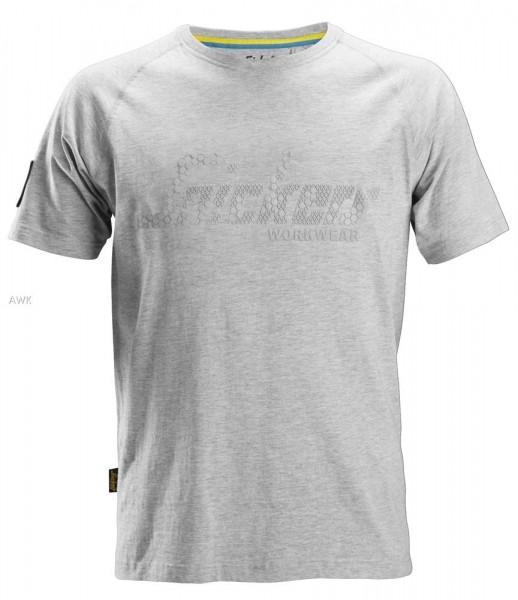 Logo T-Shirt, Light Grey Melange, MG200