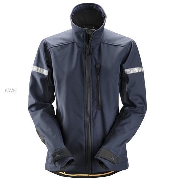 AllroundWork Damen Softshell Jacke, navy/black