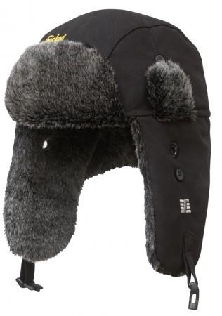RuffWork Trapper Mütze mit Ohrenklappen, schwarz